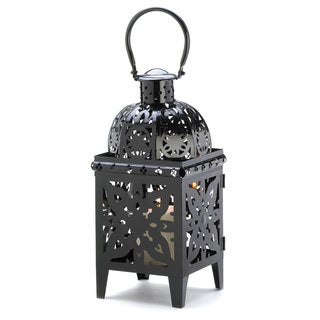 Black Medallion Metal Lantern