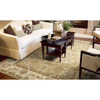 Anabelle Hand-tufted Camel-color Wool Rug (9' x 12')