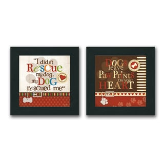 Kathy Middlebrook 'Inspirational Dog Pet' Framed Print (Set of 2)