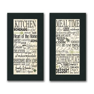 Jo Moulton 'Kitchen & Mealtime Inspirational' Framed Print (Set of 2)
