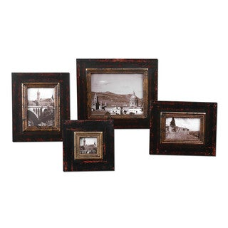 Kitra Distressed Black Photo Frames (Set of 4)
