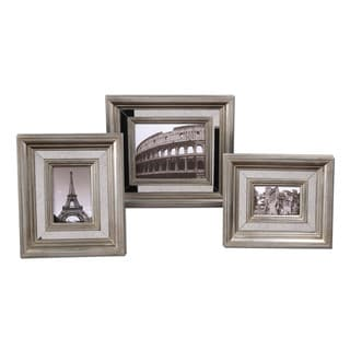 Hasana Antique Silver Photo Frames (Set of 3)