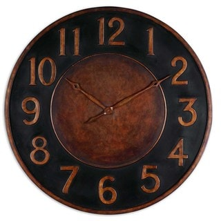 'Matera' Golden Bronze Wall Clock