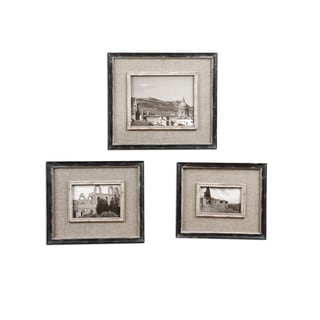 Kalidas Distressed Black Photo Frames (Set of 3)