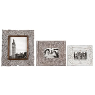 Askan Antique White Photo Frames (Set of 3)