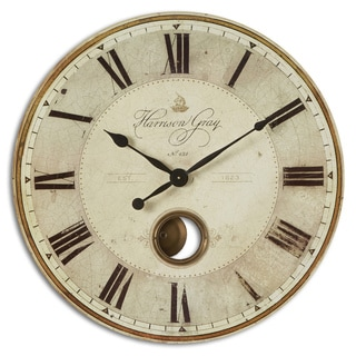 Uttermost 'Harrison' Grey 30-inch Wall Clock