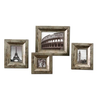 Camber Champagne Silver Photo Frames (Set of 4)