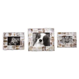 Capiz Shell Photo Frames (Set of 3)