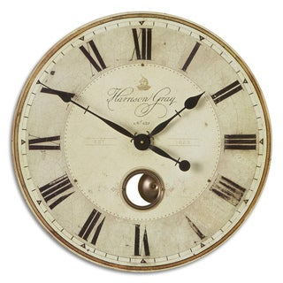 'Harrison' Grey 23-inch Wall Clock