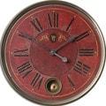 Regency 'Villa Tesio' Distressed Red Wall Clock