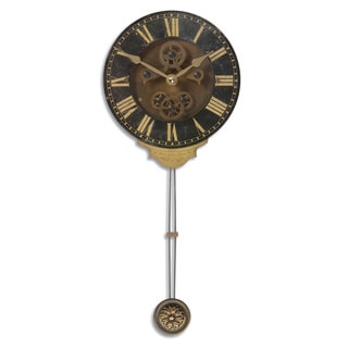 'Leonardo' Mini Black Wall Clock