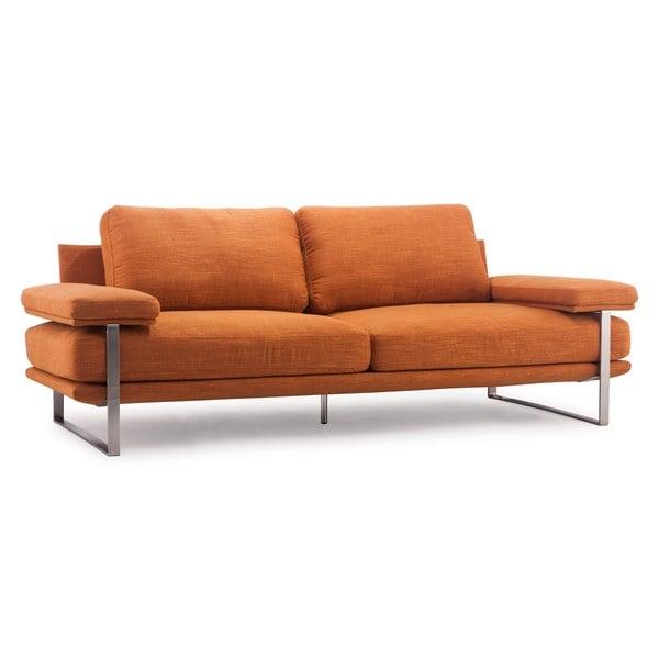 Orange Sofa Overstock Shopping Great Deals On Sofas Loveseats