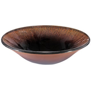 Glass Glazed Copper Sink Bowl