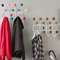 Walnut or Multi Gumball Coat Rack