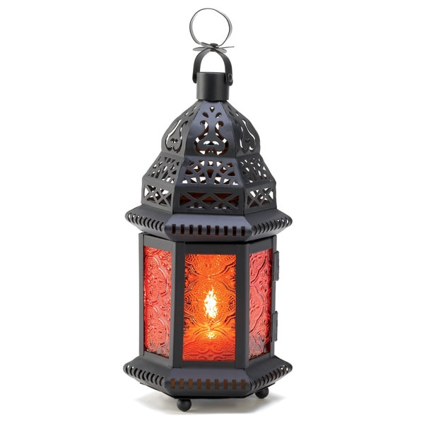 Amber Moroccan Candle Lantern 12018624