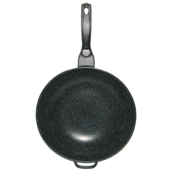 Mega Cook 12-inch Non-stick Stone Marble Wok Fry Pan