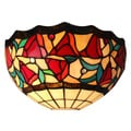 Amora Lighting Tiffany Style 12-inch Floral Wall Sconce Lamp