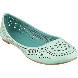 Women's Beston Cherry-02 Mint Faux Leather
