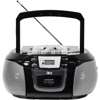 QFX Portable Radio with CD Player Cassette and USB Slot