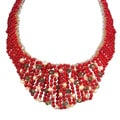 Bold Cascades Mix Stone Collar Statement Necklace (Thailand)