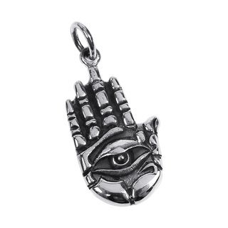 Hand of Hamsa Amulet .925 Sterling Silver Pendant (Thailand)