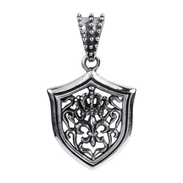 Royal Fleur de Lis Crest .925 Sterling Silver Pendant (Thailand)