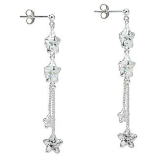 Trendy Cubic Zirconia Stars Drop .925 Silver Earrings (Thailand)