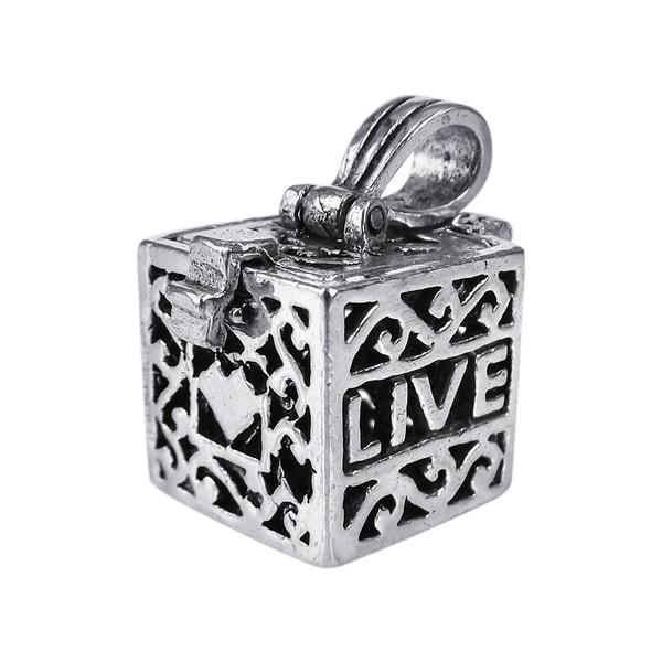 Handmade Prayer Box Locket .925 Silver Pendant (Thailand) 13237145