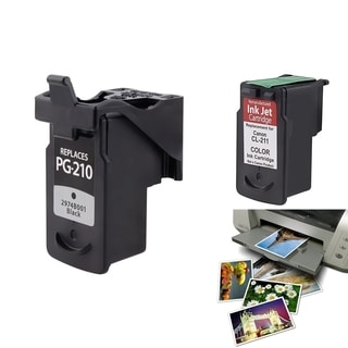 Canon CL-211/ PG-210XL Ink Cartridge Set with Photo Paper (Remanufactured)