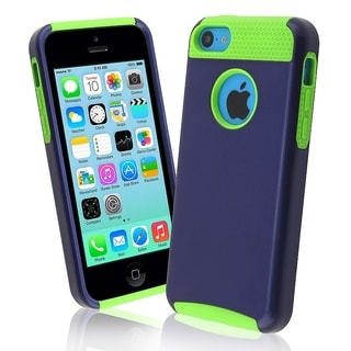 INSTEN Green Skin/ Blue Hard Plastic Hybrid Phone Case Cover for Apple iPhone 5C