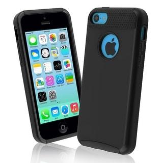 BasAcc Black Skin/ Black Hard Hybrid Case for Apple� iPhone 5C