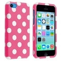 BasAcc Pink/ White Dots Protective Case for Apple� iPhone 5C