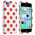 BasAcc White/ Red Dots Protective Case for Apple� iPhone 5C