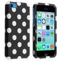 BasAcc Black/ White Dots Protective Case for Apple� iPhone 5C
