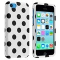 BasAcc White/ Black Dots Protective Case for Apple� iPhone 5C