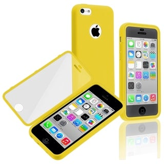 BasAcc Yellow/ Clear Frosted Cover Book TPU Case for Apple� iPhone 5C