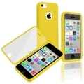 BasAcc Yellow/ Clear Frosted Cover Book TPU Case for Apple iPhone 5C