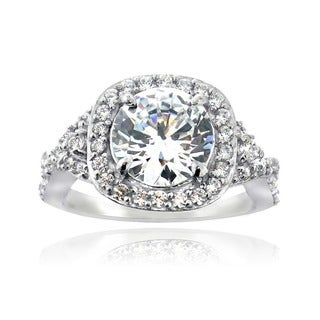 Icz Stonez Sterling Silver Cubic Zirconia Bridal-style Ring