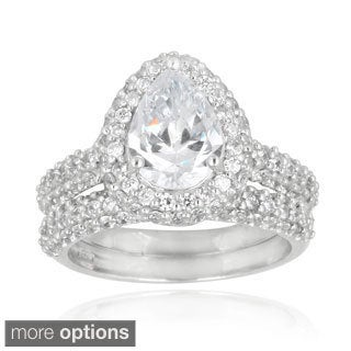 Icz Stonez Cubic Zirconia Engagement-style Ring Set