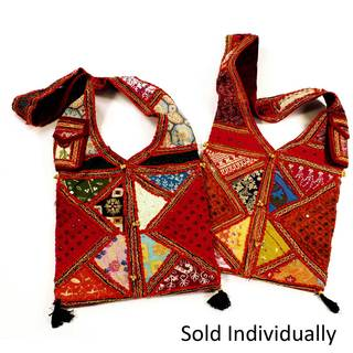 "Handmade Color Splash ""V"" - Recycled Embroidered Sari Bag (India)"