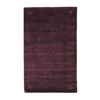 Indo Hand-knotted Gabbeh Purple/ Red Wool Rug (2' x 3')