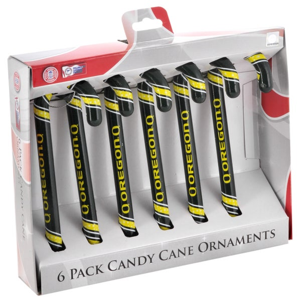 Forever Collectibles Oregon Ducks NCAA Candy Cane Ornament Set 12020821