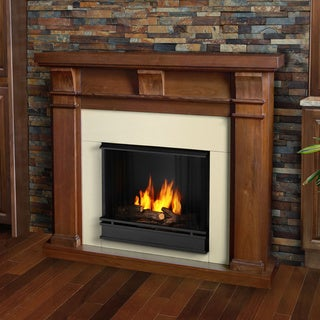 Real Flame Walnut Porter Gel Fireplace