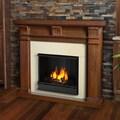 Real Flame Walnut Porter Gel Fireplace