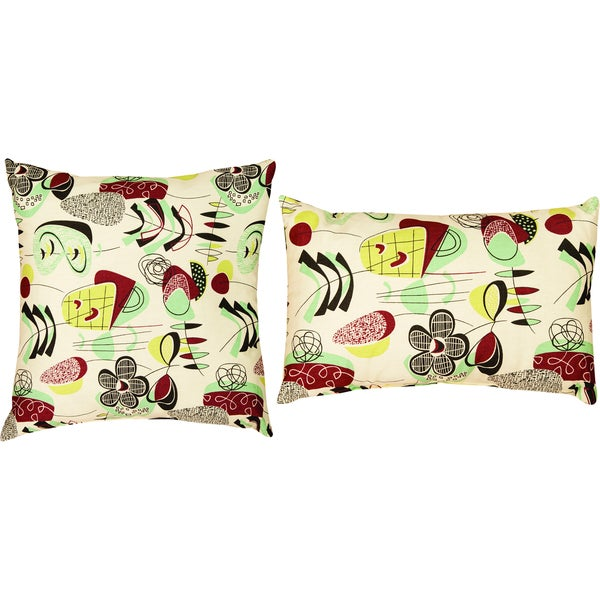 Doo Wop Decorative Pillows (Set of 2)