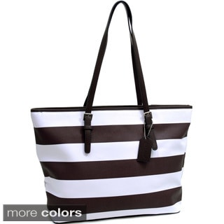Dasein Preppy Striped Tote