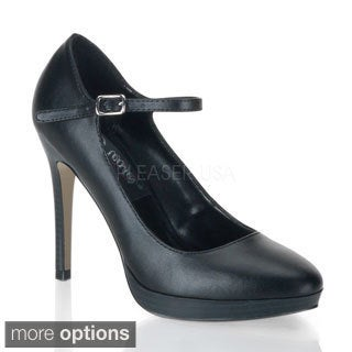 Pinup Couture Women's 'Bliss-31' Black Mary Jane Pumps