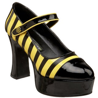 Funtasma Women's 'Buzz-66' Black/ Yellow Bumble Bee Pumps