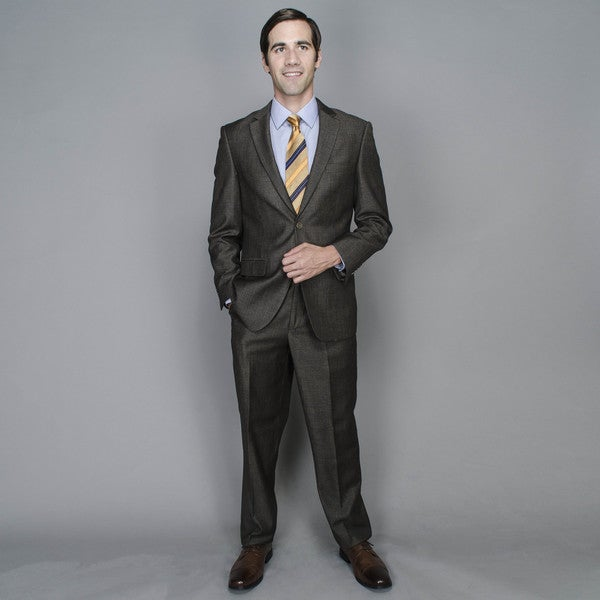 Brown Tweed 2-button Suit