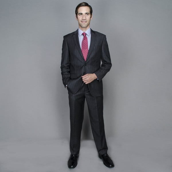 Charcoal Stripe 2-button Suit